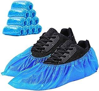 Schuhüberzieher, blauer dicker CPE-Einwegschuhbezug, wasserdicht, rutschfest und..