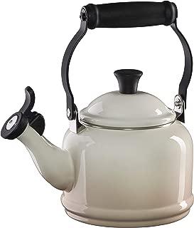 Le Creuset Meringue Enamel On Steel 1.25 Quart Demi Tea Kettle