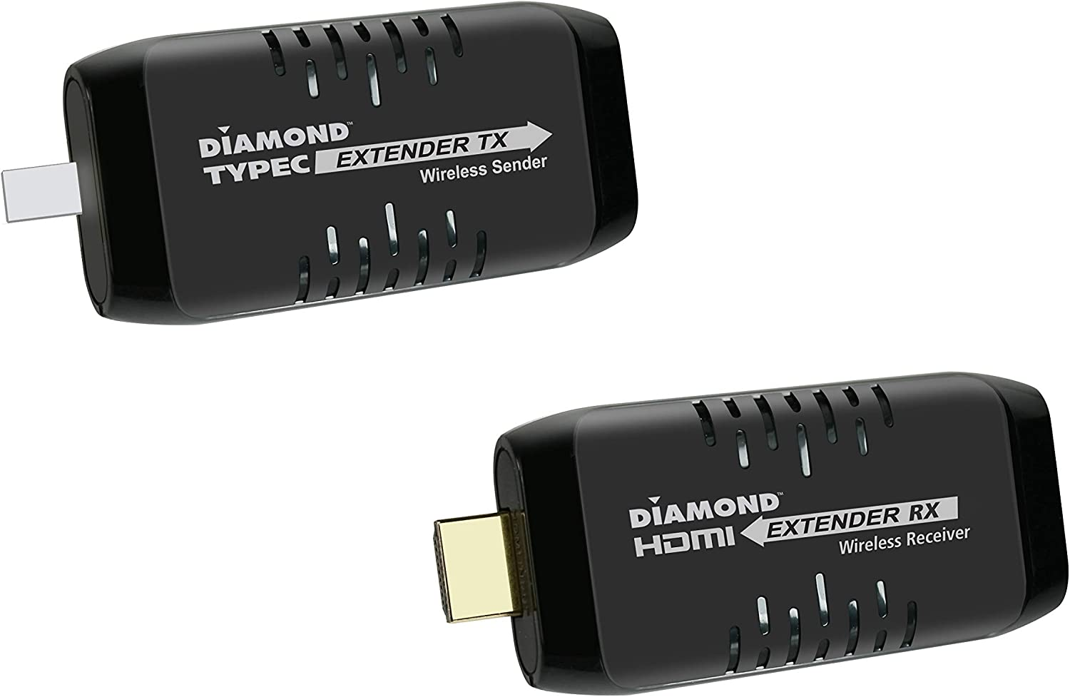 Diamond Multimedia Wireless USB Type C to HDMI Extender Kit, Transmitter & Receiver for HD 1080P PC to TV/Projector Streaming for Home Entertainment, Conference Room and Educational Applications
