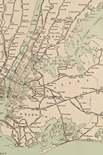 1921 Freight Map of the Metropolitan District of New York and its Vicinity - A Poetose Notebook / Journal / Diary (50 pages/25 sheets) (Poetose Notebooks)