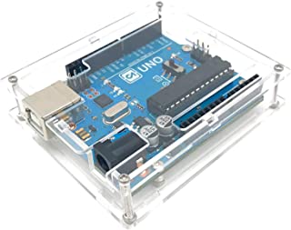 CODINGARRAY R3 Case Enclosure Transparent Clear Computer Box Compatible for Arduino UNO R3