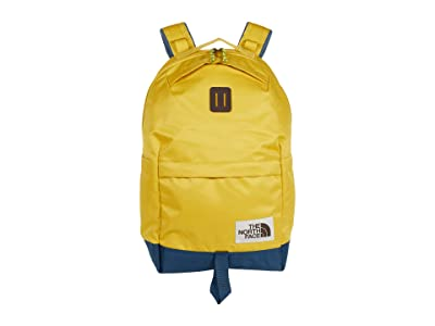 The North Face Daypack (Bamboo Yellow/Blue Wing Teal) Backpack Bags