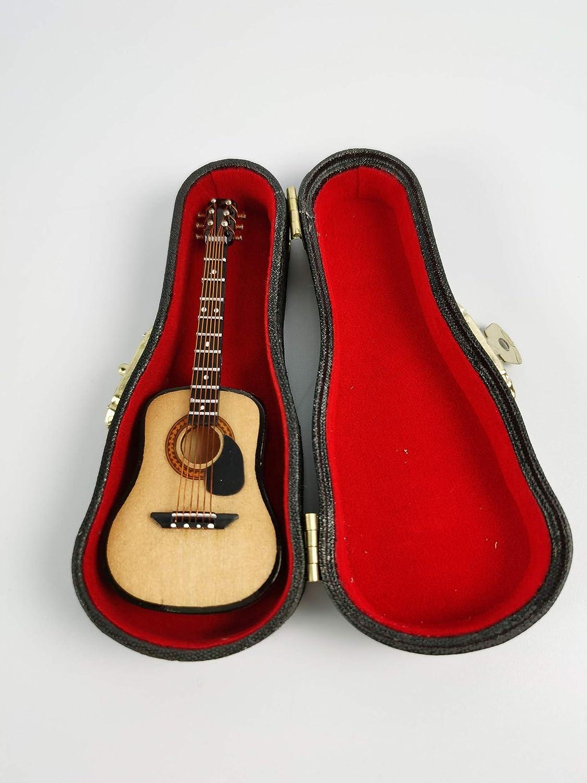 ALANO Modelo de Guitarra clásica de Madera con Soporte Mini Modelo de Guitarra Regalo de decoración (GN-10-S)