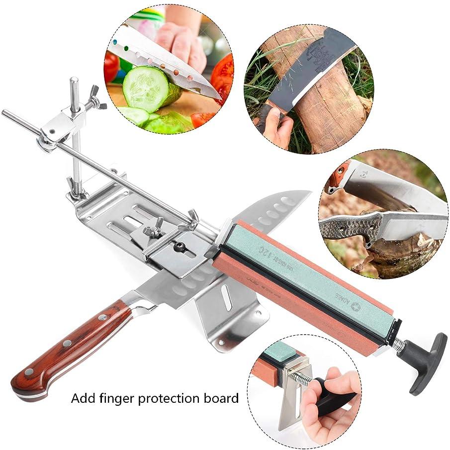 Knife Sharpener, Chef Knife Sharpener, Professional Sharpening Stone, Kitchen Blade Sharpening Stone kit, Stainless Steel Kitchen Knives Sharpen Tool System Fix-angle With 4 Whetstones