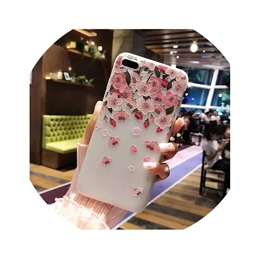 NO ORDER NO LIFE Pretty Flower Phone Case for iPhone 6 6s 7 8 Plus X 10 5 s 5s SE 6Plus 6sPlus 7Plus 8Plus Luxury Silicone Soft Back Cover,6,for iPhone X