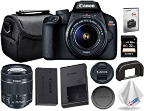 $309 » Canon EOS Rebel T100 / 4000D with 18-55mm Lens and 32GB Memory Card + Carrying Case + Instructional Video for Beginners