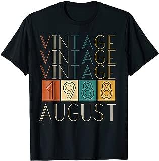 Vintage Retro August 1988 Tshirts