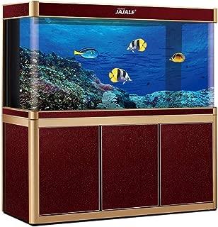 JAJALE Aquarium Fish Tank LED Light Pump Freshwater Filter Upright Fishtank Stand Bundle Clear Glass