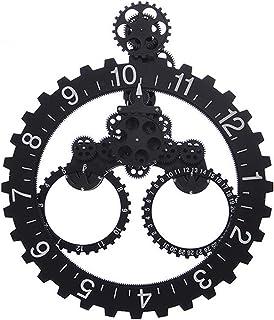 DYJD 3D Mobile Horloge Murale engrenage,Grande Horloge Silencieux Mécanique Numérique Salon Horloges Murales Décoratives