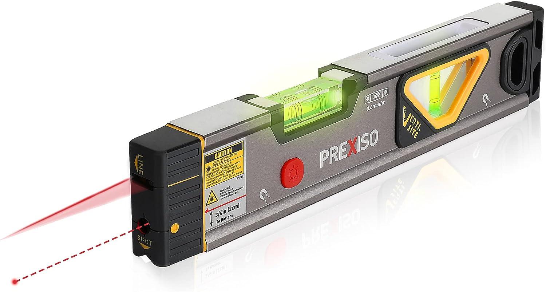 PREXISO 2-in-1 Torpedo Laser Level, 32ft Line  98ft Point Laser