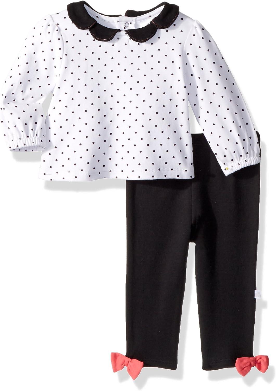 JUST BORN Baby Girls Collars & Bows 2 Piece Collared Top & Legging Set