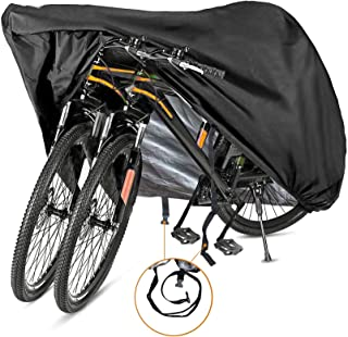Bicycle Cover Waterproof Bike Moped Scooter UV Weather Shelter 2 Bikes Blue