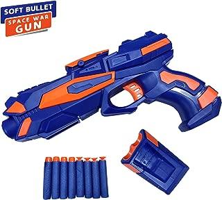 NHR Foam Blaster Gun with Free 8 Bullets, Blue