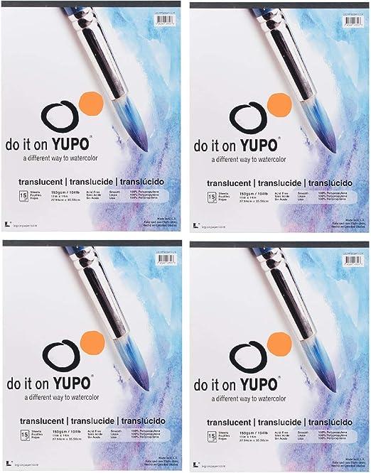 DIN A4 Yupo Paper 10 Blatt synthetisch rei/ß- und wasserfest UV lichtecht glatte Oberfl/äche extrem strapazierf/ähig 192 g vielseitig verwendbar 100/% recyclebar