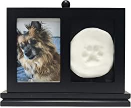 Midlee Memorial Frame with Paw Print Kit, Black Stand