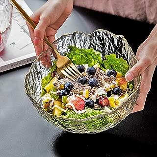 Salad Bowl - Serving Bowl - Fruit Bowl - Candy Dish - Decorative Centerpiece Bowl - Best for Serving Fruit Salad Candy Popcorn Punch Chips Pasta - Unique Modern Design (Glacier)