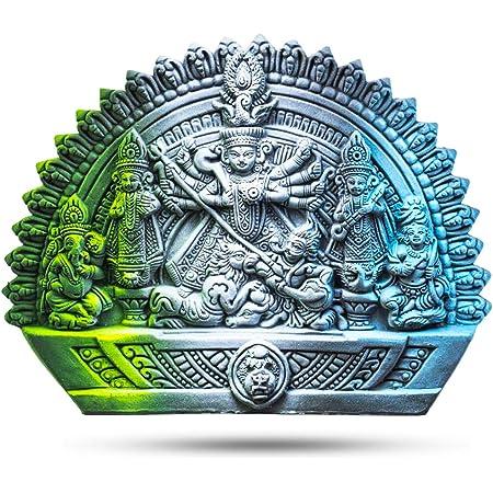 Rare Planet Stone Maa Durga Devi Idol, Standard, Multicolour