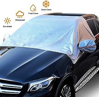 + 25 cm linguetta di fissaggio per lato Pokfrost Copertura per parabrezza suv e furgoni protegge l/'auto dal sole e dal ghiaccio dimensioni 147 x 100 cm per bus