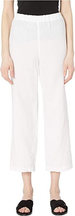 Organic Linen Straight Cropped Pants