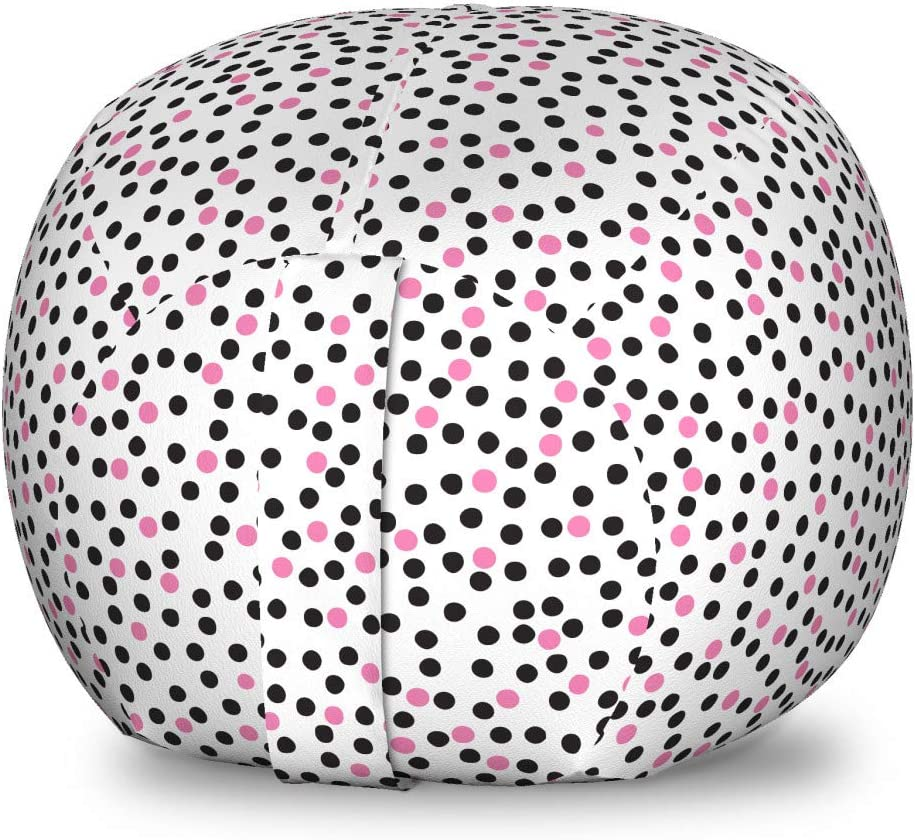 Ambesonne Abstract Storage Max 40% OFF Toy Free shipping anywhere in the nation Bag Chair Polka Dots Continuous