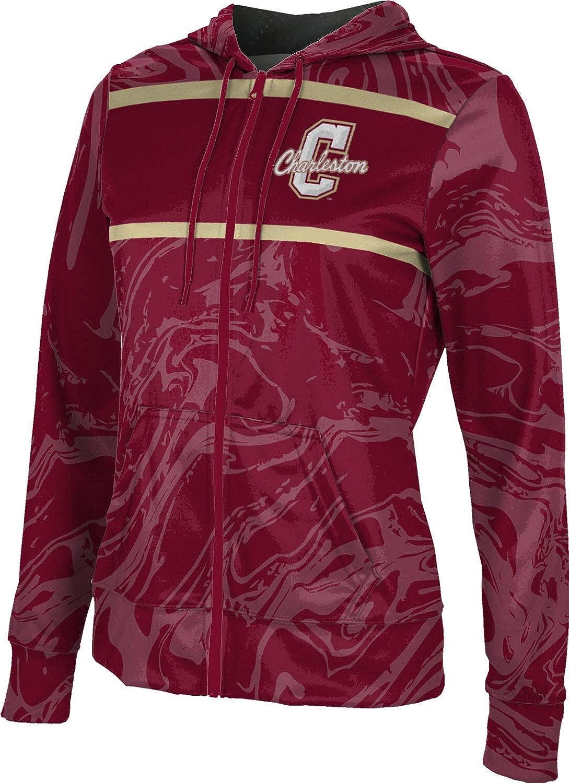 ProSphere College of Charleston University Girls' Zipper Hoodie, School Spirit Sweatshirt (Ripple)