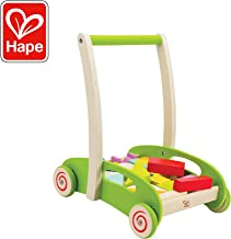 Hape Block and Roll Cart Toddler Wooden Push and Pull Toy