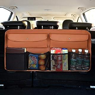 LENASH Universal سيارة جذع أشتات حقيبة متعددة الخامة مؤخرة صافي حقيبة الجيب (اللون: بني)