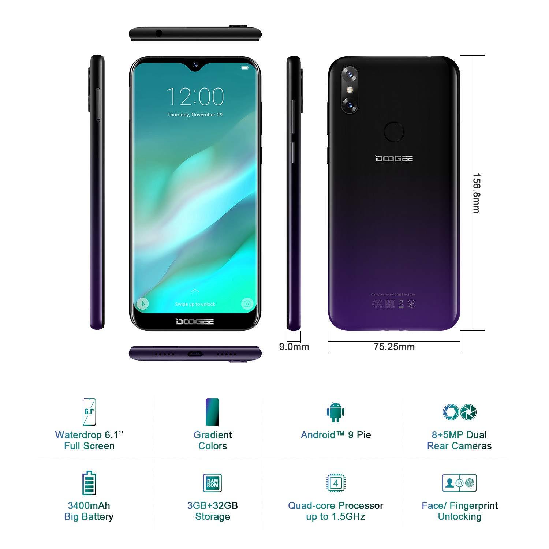DOOGEE Y8 4G Telefonos Movile Libre, Android 9.0 Smartphones ...
