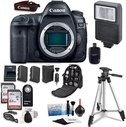 Canon EOS 5D Mark IV Digital SLR Camera Bundle (solo para personas) + Professional Ultimate Accessory Bundle
