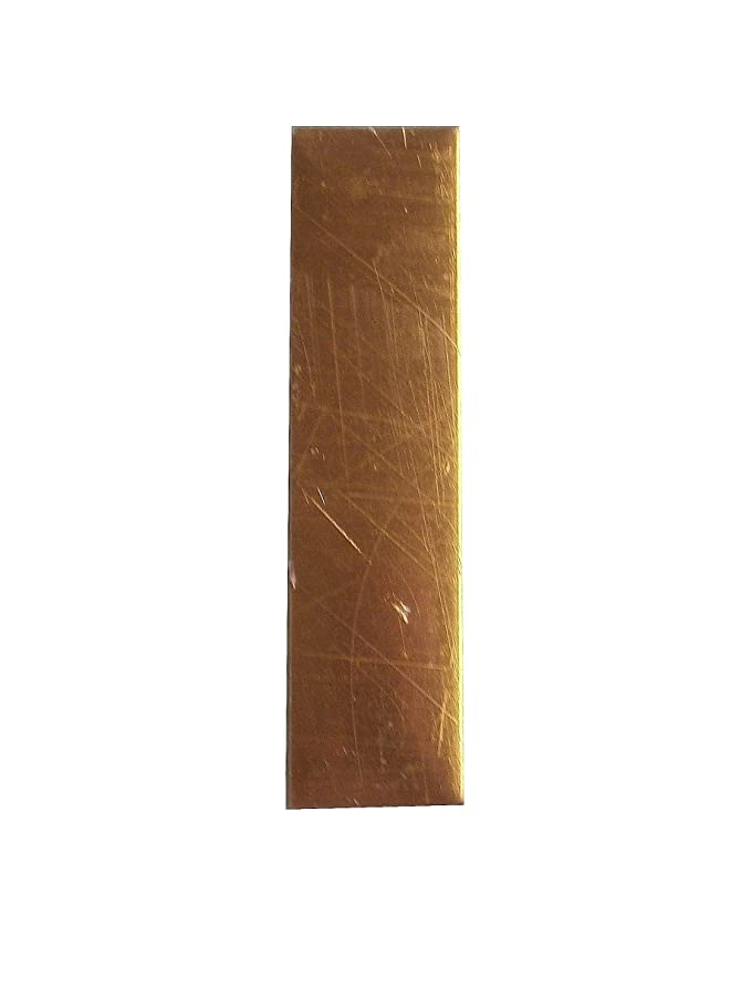 RMP Stamping Blanks, 1/2 Inch x 2 Inch Rectangle, 16 Oz. Copper (.021) - 10/Pack