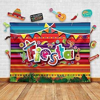 Temático Fiesta - Telón de fondo de fotografía mexicana de verano y accesorios de estudio. Fondo para fotomatón suministro...