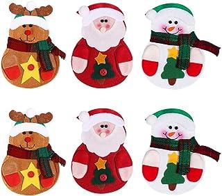 BYETOO Christmas Wine Bottle Bag Covers,Knives Forks Bag Knives Forks Bag