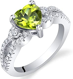 Best sterling silver peridot heart ring Reviews