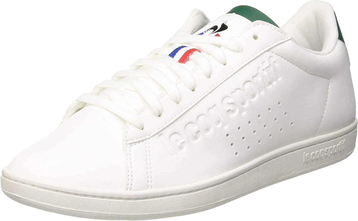 Le Coq Sportif Adults' Courtset Optical White Evergreen Trainers
