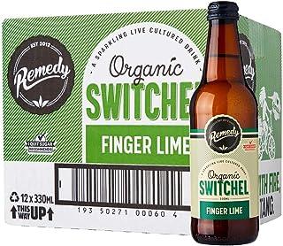 Remedy Organic Switchel Finger Lime, 330 ml (Pack of 12)