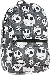 Nightmare Before Christmas Jack Skellington Head Print School Laptop Backpack Book Bag