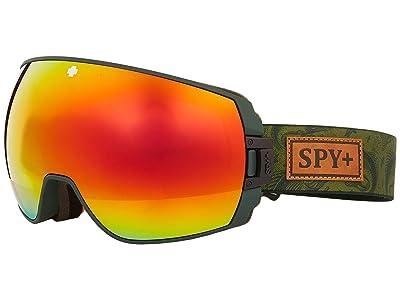 Spy Optic Legacy (Gone Fishing Hd Plus Bronze w/ Red Spectra Mirror + Hd Plus Ll) Snow Goggles