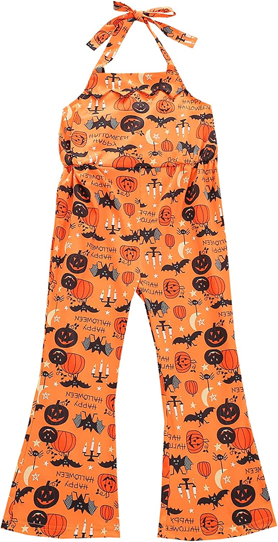 Infant Halloween Halter latest Overalls Baby Tie-up Cartoon Colorado Springs Mall Pumpkin Pr