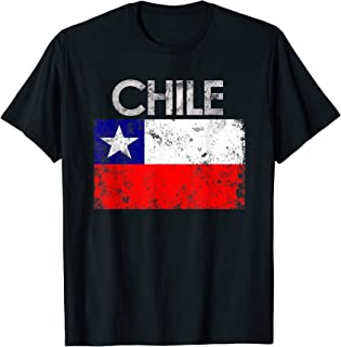Vintage Chile Chilean Flag Pride Gift T-Shirt