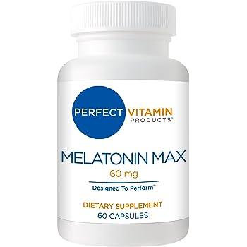High Dosage Melatonin 60mg,Melatonin Max Ensures an Ample Supply of This Important Hormone, 60 Capsules