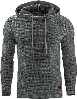 FSSE Men's Slim Fit Plain Hooded Sport Casual Gym Workout Pullover Sweatshirt