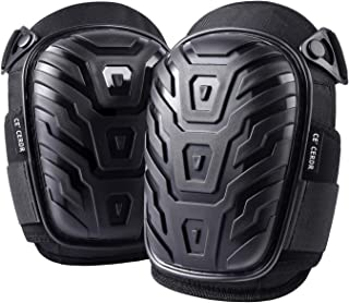 Professional Knee Pads for Work - Heavy Duty Foam Padding Kneepads for Construction, Gardening, Flooring with Comfortable Gel Cushion to Save Your Knees