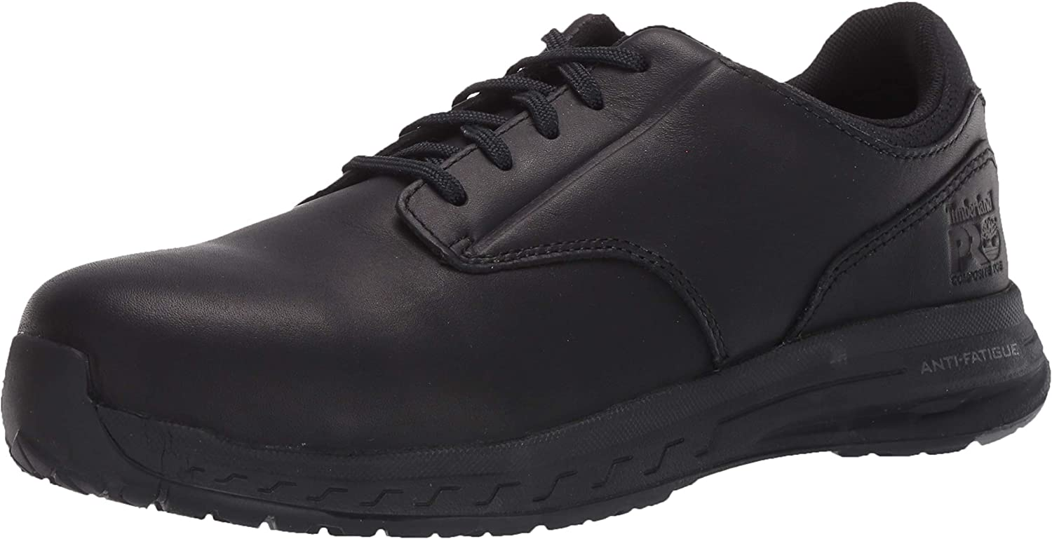 Timberland PRO Men's Drivetrain Oxford Lace Composite Safety Toe Athletic Leather Work Shoe