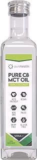100% Aceite de coco MCT | Ácido Caprílico C8 | Paleo | Cetogénica | Vegana | Sin gluten | Sin BPA (500ml Coco C8)