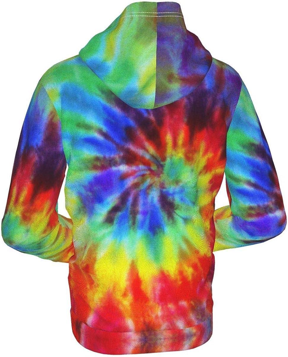 X-Peach Tie Dye Kids & Youth Full-Zip Fleece Hoodie Boys Casual Hooded Sweatshirt Jacket Pockets