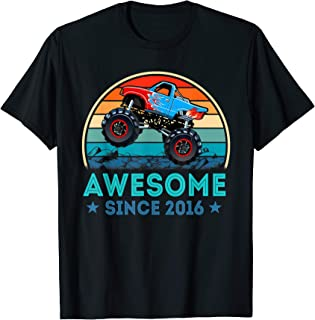 Awesome Since 2016 3rd Years Old Monster Truck Shirt