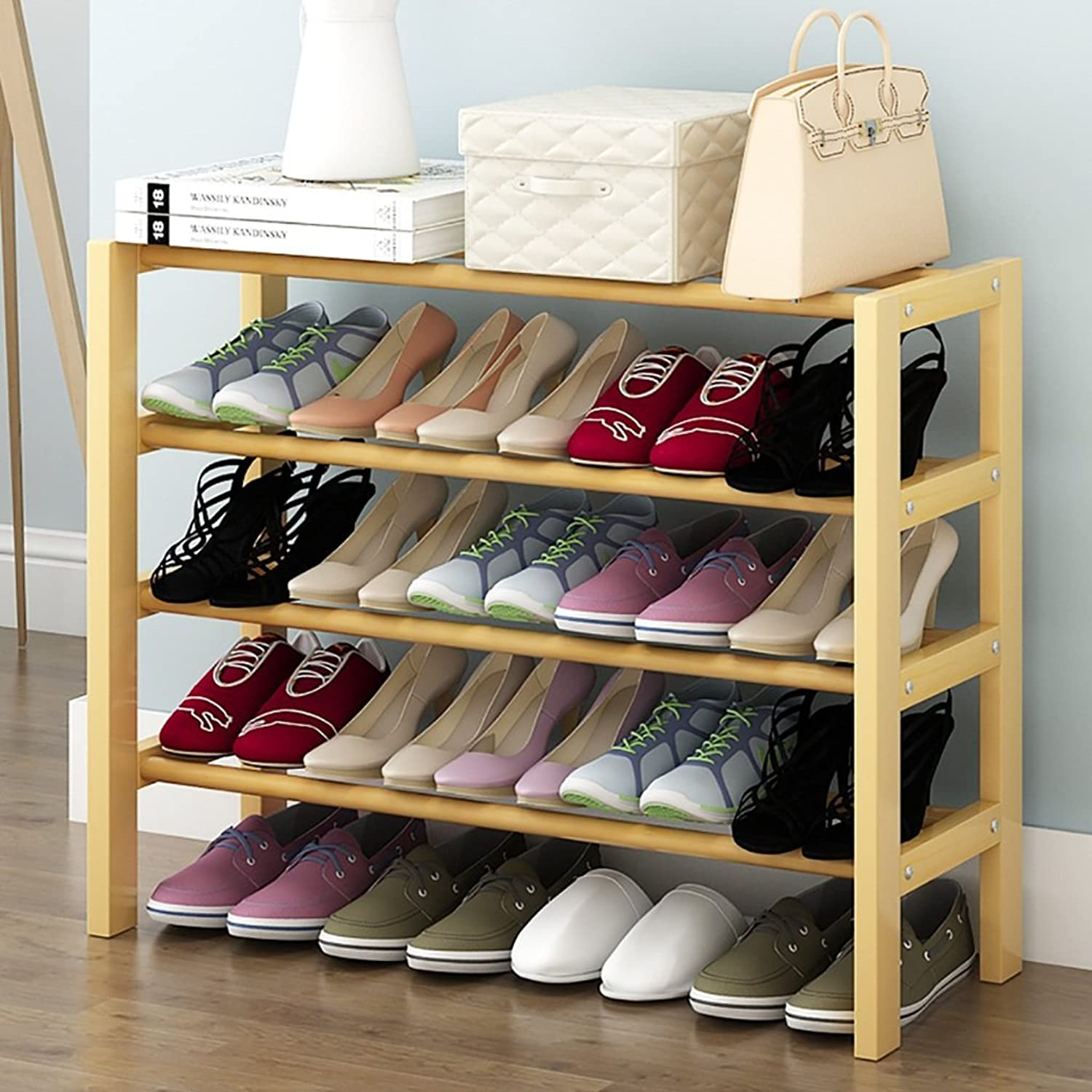 shoes Bench Organizing Rack Solid Wood shoes Rack Household Simple Small shoes Rack Multi-Functional dust shoes Rack shoes Storage Rack (Size   50cm)