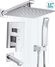 HIMK Shower System, Shower Faucet Set with Tub Spout and 12