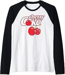 Coca-Cola Cherry Coke Logo Raglan Baseball Tee