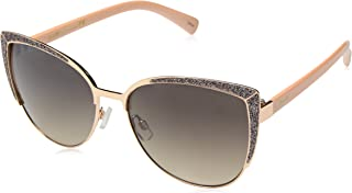 Nanette by Nanette Lepore Women's Nn224 Rgdrs Cateye Sunglasses, Rose Gold/ Rose, 59 mm